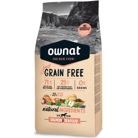 pienso perros ownat just grain free  salmon & seafood 14 kg
