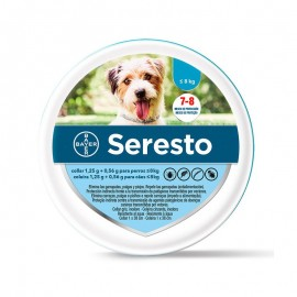 COLLAR ANTIPARÁSITO BAYER SERESTO MENOS DE 8KG